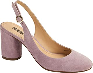 Pic & Pay | Nahla | Pretty Suede Round Toe Slingback Mid-Height Pump (New Spring)