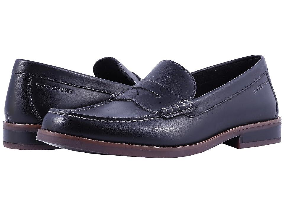 Rockport Cayleb Penny (Black Leather) Men