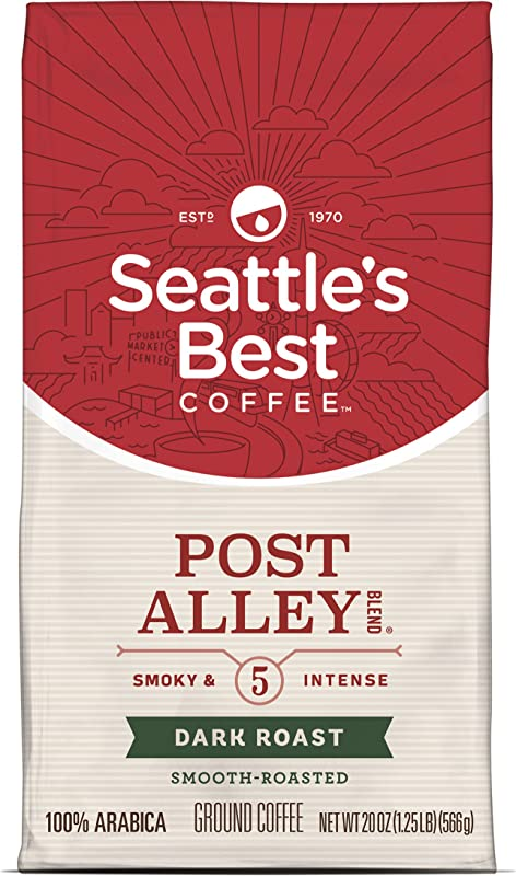 Seattle S Best Coffee Post Alley Blend Previously Signature Blend No 5 Dark Roast Ground Coffee 20 Ounce Pack Of 1