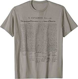 Declaration of Independence liberty tee shirt for America