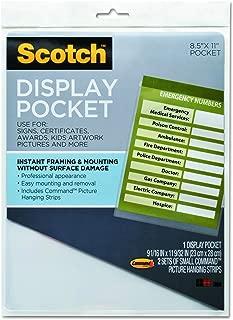 Scotch WL854C Display Pocket, Removable Interlocking Fasteners, Plastic, 8-1/2 x 11, Clear
