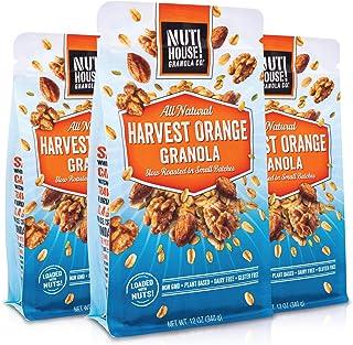 NutHouse! Granola Company - Premium Harvest Orange Granola | Certified Gluten-Free, Non-GMO, Kosher | Vegan, Soy-Free | 12...