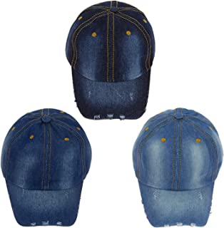 5440bda7c74 24 Pack Wholesale Denim Jean Baseball Cap Adjustable - Bulk Case of 24 Hats