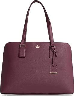 Kate Spade New York Cameron Street Marybeth Leather Satchel Bag, Deep Plum