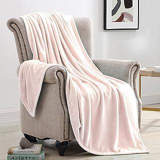 Suchtale Fleece Blanket (Twin Size 60x80 Pink) Plush Fuzzy Lightweight Throw, Super Soft Microfiber Flannel Nap Blankets f...