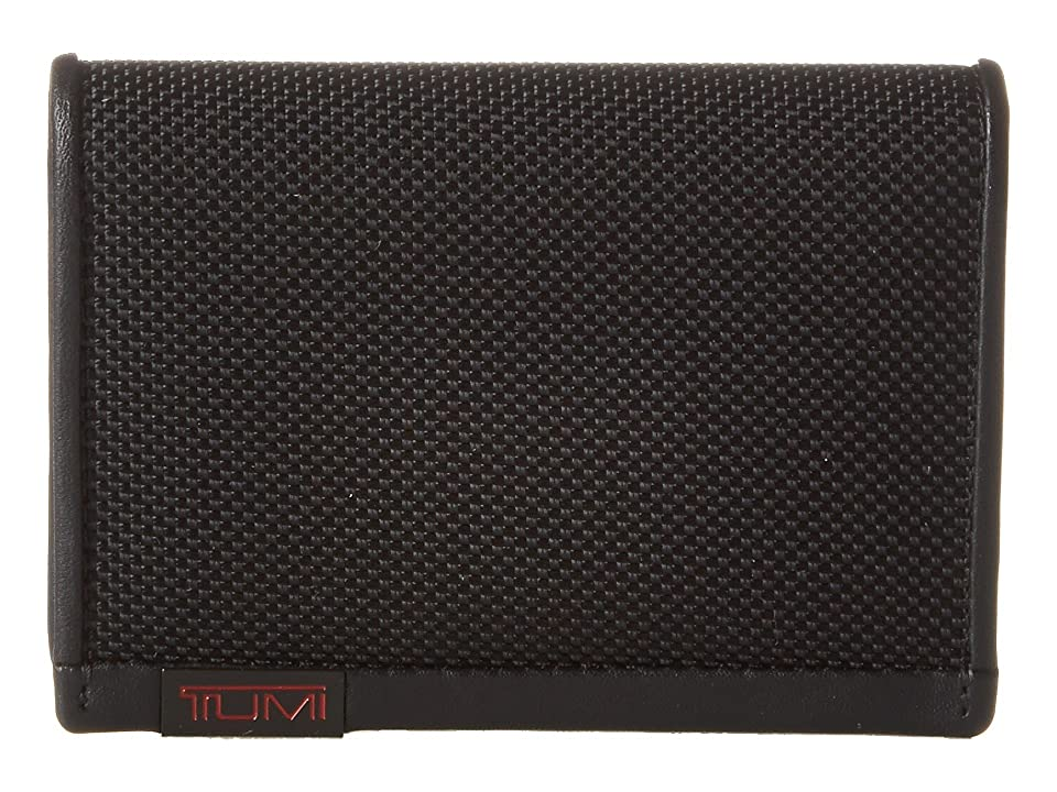 Tumi Alpha - Gusseted Card Case With ID (Black) Credit card Wallet