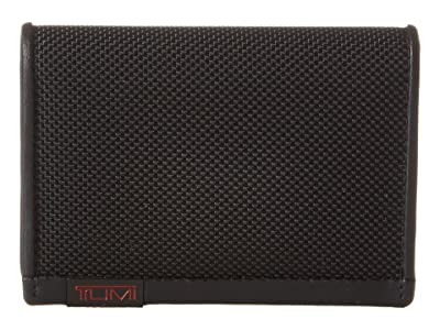 Tumi Alpha Gusseted Card Case With ID (Black) Credit card Wallet