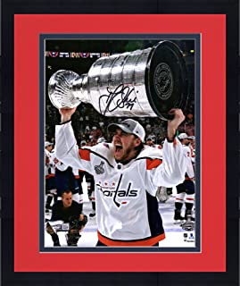 Framed T.J. Oshie Washington Capitals 2018 Stanley Cup Champions  Autographed 8