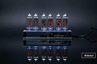 Millclock IN-14 Nixie Tube Clock Assembled with GPS Remote Control Alarm and Adapter 6-Tubes w/Out Enclosure Retro