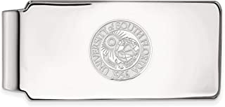 Sterling Silver LogoArt Official Licensed Collegiate Navy Money Clip Crest