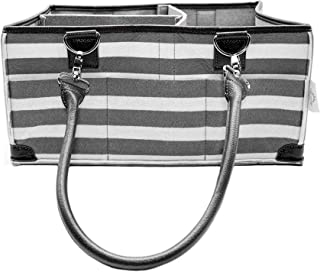 Arabella Baby Diaper Caddy Organizer with Weatherproof Base - Large Diaper Bag Tote for Newborn Essentials - Unisex Nursery Storage Basket for Changing Table or Car - Baby Shower Registry Must Haves