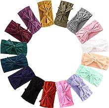 Best 16PCS Baby Nylon Headbands Hairbands Hair Bow Elastics for Baby Girls Newborn Infant Toddlers Kids Reviews