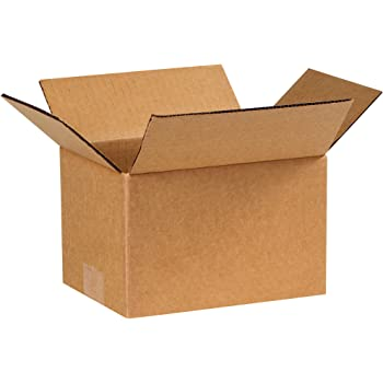 25-Count The Packaging Wholesalers 7 x 7 x 7 Inches Shipping Boxes BS070707