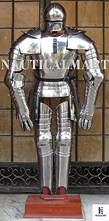 NauticalMart Gothic Full Suit of Armor Reenactment Functional LARP Medieval Knight Body Armour