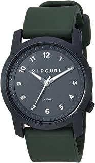 Rip Curl Men's Cambridge Quartz Sport Watch with Silicone Strap, Green, 22 (Model: A3088-MIL)