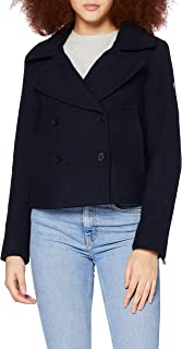 Superdry Wool Crop Peacoat veste Femme