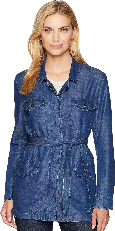 Karen Kane Womens Belted Cargo Jacket