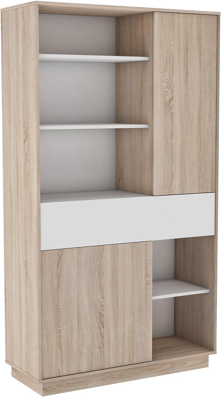 Habeig moderner Küchenschrank  5380 wei braun Miniküche Küchenzeile Küchenregal Schrank