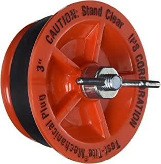 IPS 78034 Twist-Tite Mechanical Test Plug, 3-Inch Length, Red