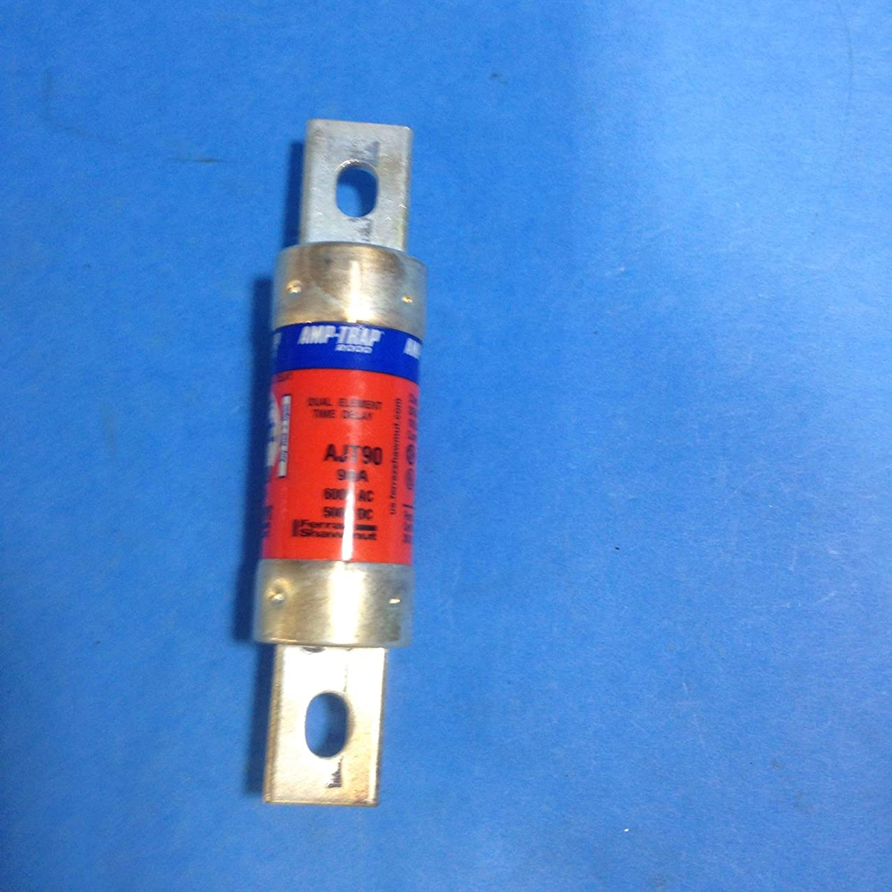 Ferraz Shawmut Amp-Trap 2000, SmartSpot AJT90 Current Limiting Time Delay Fuse, 90 A, 600 VAC/500 VDC, Class J