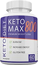 Keto MAX 800 - Premium Weight Loss - Burn Fat - Increase Energy - Gluten Free - 30 Day Supply
