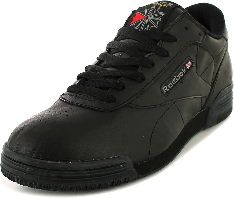 Reebok New Mens  Gents Gents Gents svart Exofit Leather Upper Lace UPS -utbildare.-svart - UK Storleks 6 -10.5  försäljning online
