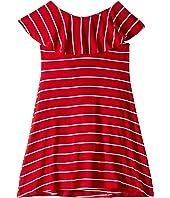 Ruffle Collar Dress (Toddler/Little Kids/Big Kids)