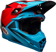 Bell Moto-9 Flex Off-Road Motorcycle Helmet (Gloss/Matte Cyan/Red Hound, Large)