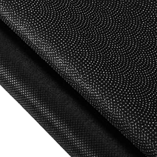 Non-Woven Fusible Interfacing Polyester Interfacing Fabric Single-Sided Iron on Interfacing for DIY Supplies (Black, 40 In...
