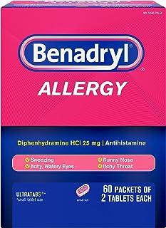 Benadryl Allergy 60 Packets 2 Tablets (Each 1 Box)