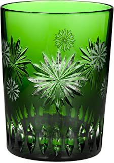 Waterford Crystal Snowflake Wishes for Courage Emerald Double Old Fashioned Glass, 2nd Edition