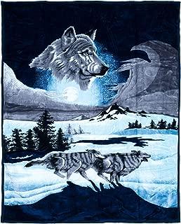 Lavish Home Wolf Heavy Thick Plush Mink Blanket - 8 Pound