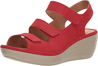 5f23ec22f1e Amazon.com  CLARKS - Red   Sandals   Shoes  Clothing