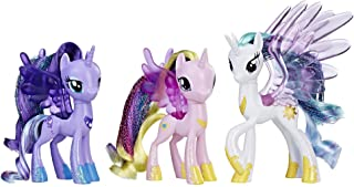 My Little Pony Princess Celestia, Luna, and Cadance 3 Pack – 3-Inch Glitter Unicorn Toys With Wings from the Movie (Amazon...