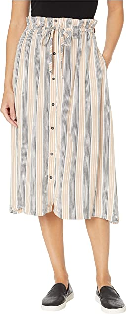 Oslo Striped Midi Skirt