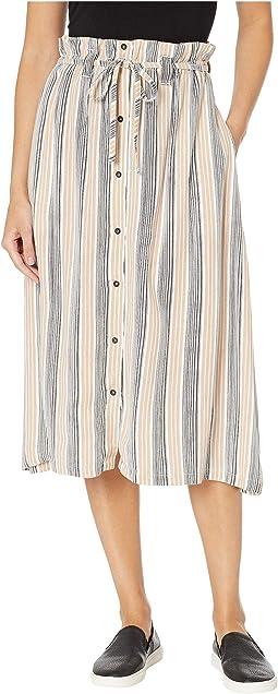 Oslo Striped Midi Skirt