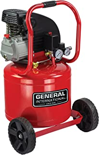 General International AC1104 Portable 11 gallon Vertical Oil-Lubricated Air Compressor, 6 CFM, 115 PSI, Red