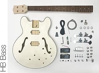 DIY Electric Bass Guitar Kit - Semi Hollow Body Bass Build Your Own