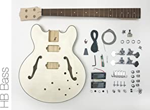 DIY Electric Bass Guitar Kit - Semi Hollow Body Bass Build Your Own