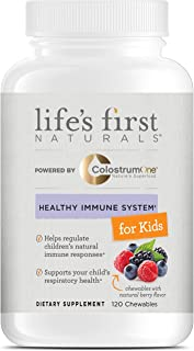 Life's First Naturals Kids Healthy Immune System Support with ColostrumOne, Nutritional Supplement with Ethically Sourced ...