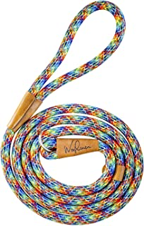 Wooflinen 7ft Ultra Reflective Fatty Series Premium Dog Slip Leash - Made from Large Gauge Mountain Climbing Rope - Make a Statement While Walking The Strongest of Pullers