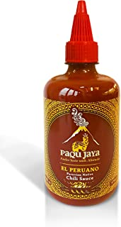 Paqu Jaya El Peruano Chili Hot Sauce - 16.5oz Non-GMO, Gluten-Free, Vegan | Sweetened with Mango & Sourced Sustainably in Peru | Used Globally by Top Chefs!