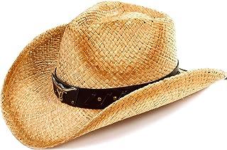 Kids Western Cowboy Hat Toddler Straw Sun Hat with...