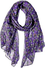 Women Scarves Dog Cat Horse Elephant Sloth Fox Music Butterfly Leaves Lightweight Shawl Head Wraps