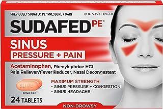 Best Sudafed PE Sinus Pressure + Pain Relief Maximum Strength Non-Drowsy Decongestant, 24 ct Review
