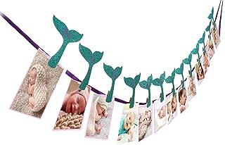Mermaid Photo Banner, Sweet Heart First Birthday Photo Banner, Justborn To 12 Months Photo Banner, For Mermaid Party Decor...