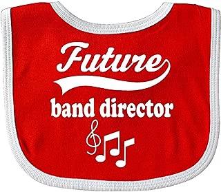 Inktastic Future Band Director Shirt Childs Music Baby Bib Red/White