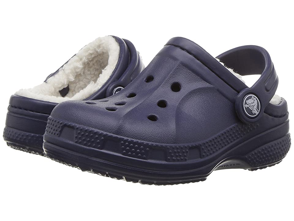 Crocs Kids Ralen Lined Clog (Toddler/Little Kid) (Nautical Navy/Oatmeal) Kid