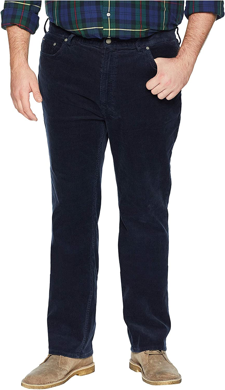 Ralph Lauren Mens Classic Stretch Casual Corduroy Pants, Blue, 52W x 30L