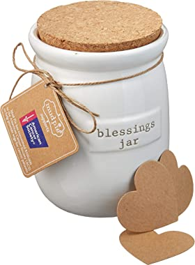 Mud Pie Inspirational Count Your Blessings Jar Set